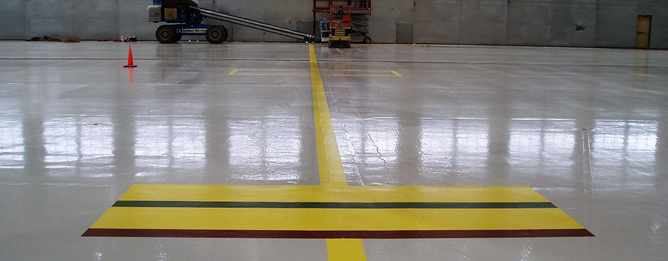 Airplane Hangar Floor