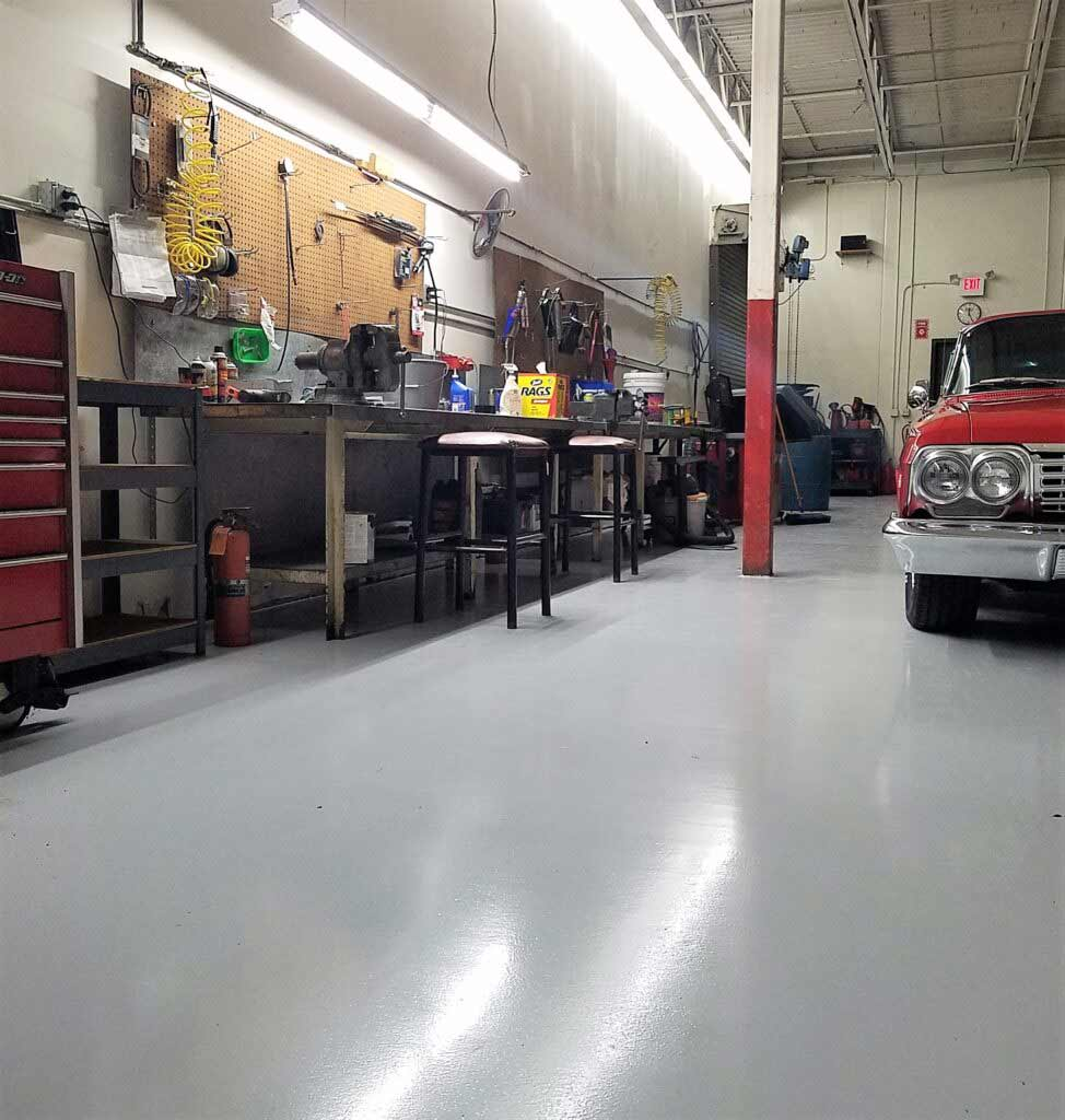 automotive shop flooring