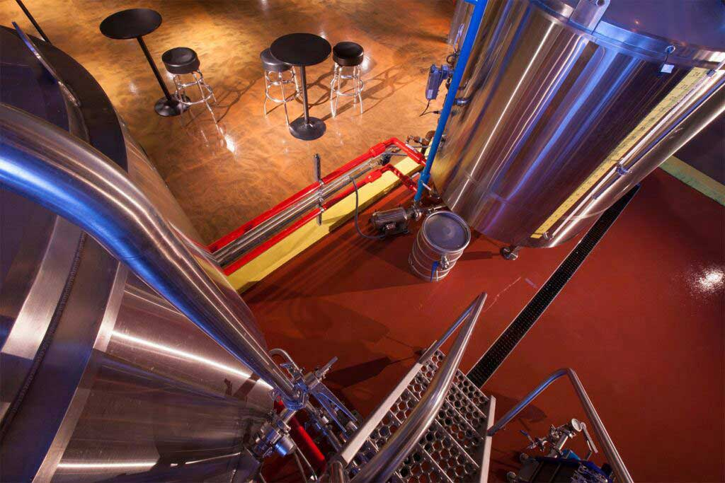 wicked wort brewery flooring