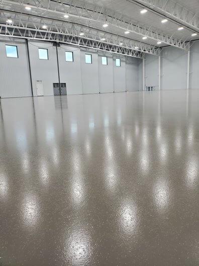 Berg Hangar Concrete Floor Coating